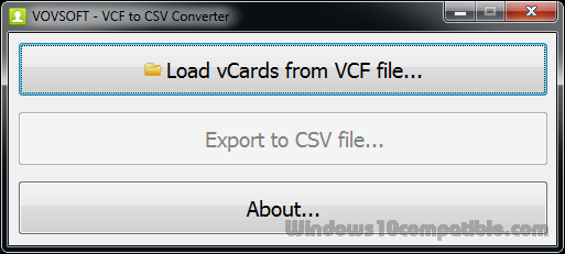 VCF to CSV Converter 1 5 Free download